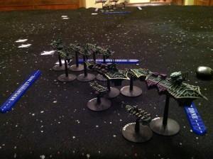 Camille's fleet entering battle.