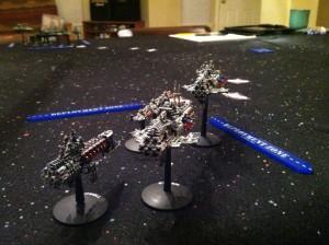 Zed's fleet chasing her down.