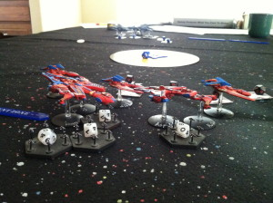 Kharadorn launching fighters.