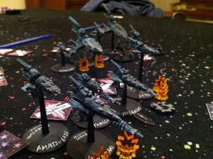The Eldar take fire.