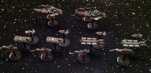 Ivan's fleet, laid out to show its organization.