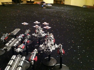 Imperials escorting merchants to La Grange.