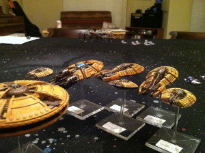 The view of the Imperials from the Directorate fleet.
