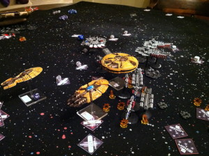 The Directorate drives through the enemy formation.
