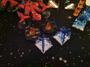 Kharadorn patrol groups fight off Chaos fighters attacking Reträtt.