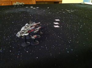 Zed's fleet intercepts.