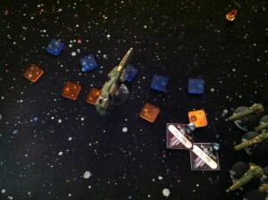 Orange: Keyes' lasers. Blue: Escalon's.