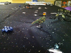 Gal'Efors moves out of range.