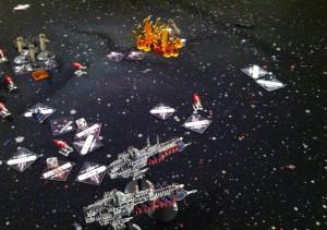 Keyes targets one escort squadron.