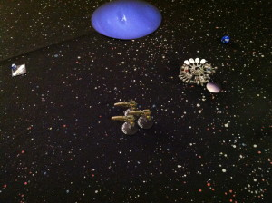 An escort squadron leads the MEF advance.