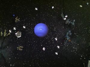The fleets after the Eldar have split.
