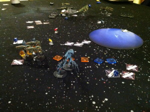 Inazuma moves into range of the station.