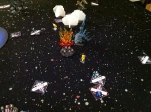122 Group destroyes Asagumo.