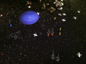 All that remains of the Eldar fleet.