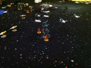 Hamanami overthrusts to bring the station into range.