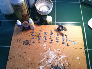The fighters after being primed.