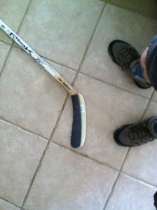 Yeah, that's my stick.
