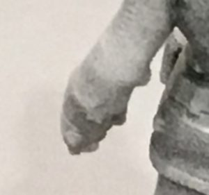Printing artifacts on the left arm